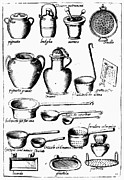 Colander Framed Prints - Cooking Utensils, 1643 Framed Print by Granger