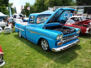 Medford Photos - Cool Blues Classic Truck by Teri Schuster