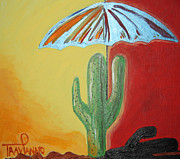 John Wayne Paintings - Cool Cactus by Travianno
