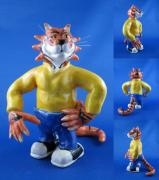 Cartoon Ceramics - Cool cat by Bob Dann