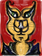 Gold Jacket Posters - Cool Cat Poster by Russell Pierce