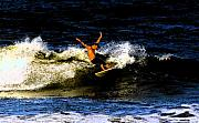 Surfing Art Metal Prints - Cool dude Metal Print by David Lee Thompson