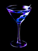 Mixed Drink Digital Art Acrylic Prints - Cool Martini Acrylic Print by Wingsdomain Art and Photography