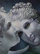 Greek Sculpture Painting Prints - Cool Muses  Print by Geraldine Arata