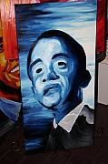 Barack Obama Oil Paintings - Cool President Barack Obama oil painting by Brandon Notch by Brandon Notch