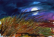 Full Moon Drawings - Cool Spring Moon by John  Williams