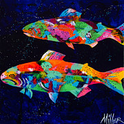 Trout Painting Originals - Cool Waters by Tracy Miller