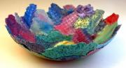 Wall Art Ceramics Originals - CoolColor Soft Bowl by Alene Sirott-Cope