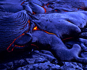 Hawai Prints - Cooling Lava Flow Print by G. Brad Lewis