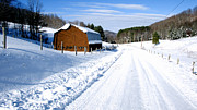 West Virginia Snow Scene Posters - Coon Creek Road and Snow Poster by Thomas R Fletcher