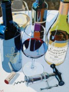 Wine Bottle Paintings - Cooper Award Winners by Christopher Mize