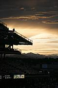 Coors Framed Prints - Coors Field at Sunset Framed Print by Marilyn Hunt