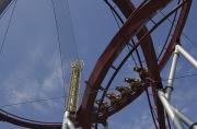 Netting Photos - Copenhagen, Denmark, Rollercoaster Ride by Keenpress