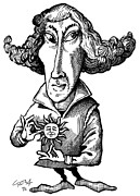 Caricature Prints - Copernicus, Caricature Print by Gary Brown