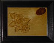 Carving Reliefs - Cople roses by Majid Banimahd