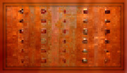 Copper Mixed Media Framed Prints - Copper Abstract Framed Print by Carol Groenen