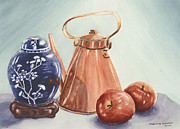 Antiques Paintings - Copper And Hawthorn by Meredith Landry
