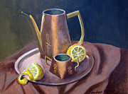 Old Pitcher Painting Originals - Copper Assembly by Stephen  Hanson