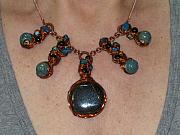 Czech Jewelry - Copper Fan by Tareen Rayburn