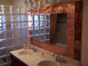 Mirror Reliefs - Copper Framed Bath Mirror by Jeff  Williams