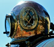 Dive Helmet Posters - Copper Head Poster by Rene Triay