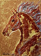 Mustang Paintings - Copper Horse by Valerie Phillips