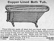 Montgomery Prints - Copper-lined Bathtub, 1900 Print by Granger