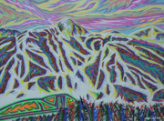 Skiing Pastels Posters - Copper Mountain Poster by Robert  SORENSEN