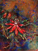 Passionflower Painting Prints - Copper Passions Print by Ashley Kujan