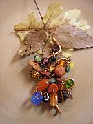 Handcrafted Jewelry Originals - Copper Pendant with stones by Angie DElia