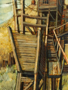 Old Buildings Paintings - Copper Queen Mine by Steve Spencer
