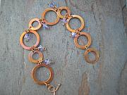 Earrings Jewelry - Copper rings by Angie DElia