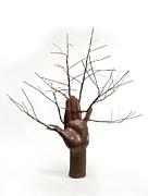 Copper Tree Hand A Sculpture By Adam Long Print by Adam Long