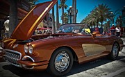 1957 Corvette Prints - Coppertone SPF 57 Print by DigiArt Diaries by Vicky Browning