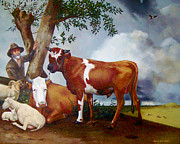 Steer Paintings - Copy of Dutch Painting By Potter by Joyce Geleynse