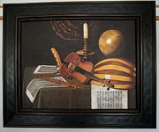 Violine Paintings - Copy of Evaristo Baschenis still life by Ljiljana  Prelevic
