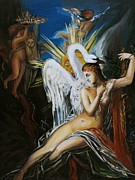 Leda Originals - copy of Gustave Moreau by Timofte Bobeica Silvia