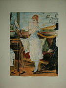Toilet Painting Originals - copy of Nana by Manet by T Visco