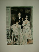 Wives Paintings - copy of The Balcony by Manet by T Visco