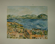 Estaque Paintings - copy of The Bay from LEstaque by Cezanne by T Visco