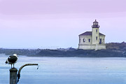 Betty Framed Prints - Coquille River Lighthouse Framed Print by Betty LaRue