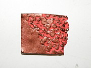 Stamped Jewelry - Coral and Copper Pin by Megan Brandl