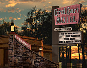 Signage Digital Art Posters - Coral Court Motel Poster by Anthony Ross