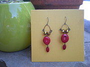 Coral Jewelry - Coral Earrings by Beth Sebring