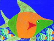 Caribbean Sea Mixed Media - Coral Fish 3 by Sula Chance
