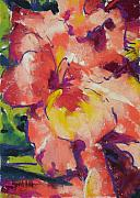 Flower Gardens Pastels Prints - Coral Glad Print by Mary McInnis
