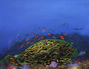 Scuba Paintings - Coral Head by Jacob Julian