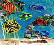 Art Glass Mosaic Glass Art - Coral Reef by Charles McDonell