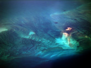 Ocean Photography Photos - Coral Reef from 28000 feet by Strato  ThreeSIXTY
