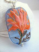 Tree Jewelry - Coral Tree Flower by Kristy Kempinger